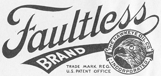 Hawkeye Oil Company - Faultless Brand